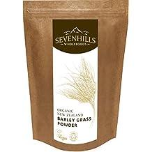 Sevenhills Organics New Zealand Barley Grass Powder 400g, certified organic by the Soil Association
