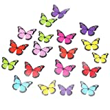 18Pcs 4 Patterns 3D Butterfly Crystal Wall Stickers Decor Wall Home Room ...