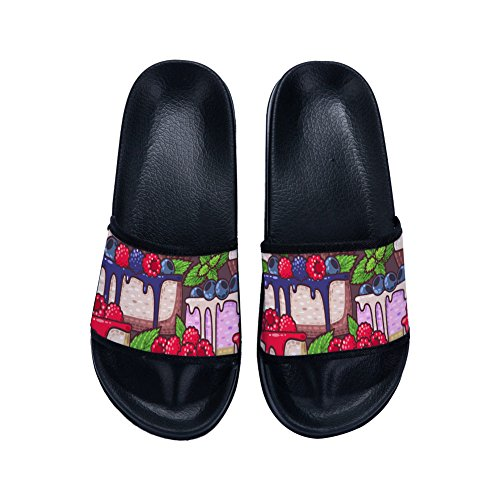 Drying Black Grape Slippers Fruits Womens Slip Slippers Non Quick Raspberry Slippers Cute Pattern for O05aqtw