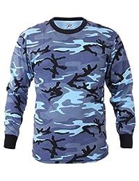 Rothco Long Sleeve Camo T-Shirt, Sky Blue Camo - Large
