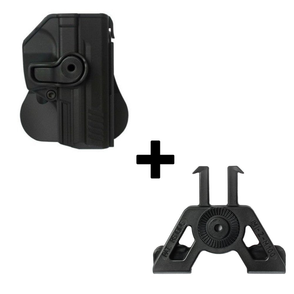 SFP9 9mm pistolet P2000 VP9 Molle adaptateur attachement pour Heckler Koch H/&K P30 IMI Defense tactique R/étention Holster cach/é portez ROTO rotation /étui de revolver