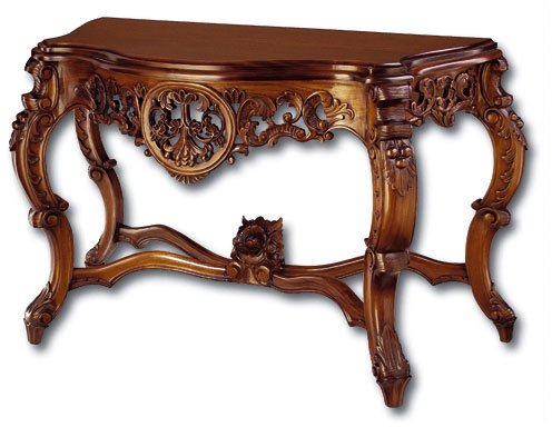 Laurel Crown Rococo Console Table with Grape -