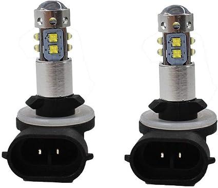 1 Pair 6000K Super White High Power 100W LED Light Bulbs For  Polaris Ranger NEW