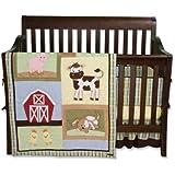 Trend Lab 4 Piece Crib Bedding Set, Baby Barnyard