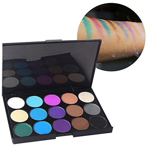 MLMSY 15 Earth Color Color Eye Shadow with the Matching 6 PCS Eye Shadow Brushes and Brush Washing Egg Multi Color Multi Brush to Meet the Different Needs of the Make-up (15 color+6 brush)