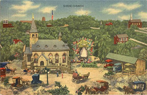 Shrine Church Roadside America Hamburg, Pennsylvania Original Vintage Postcard from CardCow Vintage Postcards