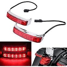 For Harley Street Glide Tri Electra Glide Road King Motorcycle Rear Saddlebag Box Luggage Housing Tail Run Brake Turn Light LED Len 2014-2018