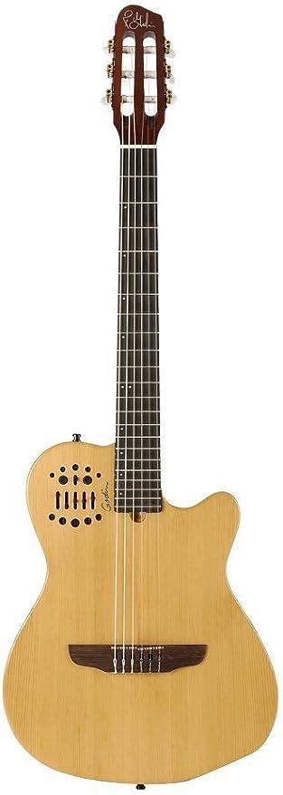 Godin multiac series-acs Slim cedro nailon guitarra (con funda ...