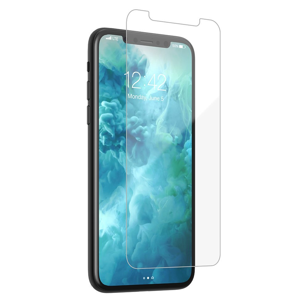buy online d7d64 16ac1 Case-Mate - iPhone X/XS - Glass Screen Protector - Tempered Glass - Anti  Fingerprint - 9H - Apple iPhone - Clear