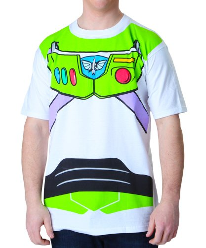 Toy Story Buzz Lightyear Astronaut Costume Adult T-shirt (X-Large) White -
