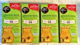 4C Green Tea with Honey and Lemon Flavor iced tea mix 1.69oz (Pack of 4)