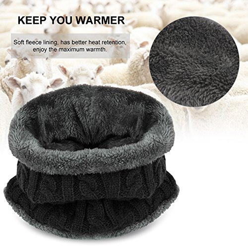 VBIGER 2-Pieces Winter Beanie Scarf Set Warm Hat Thick Knit Skull Cap for Men Women