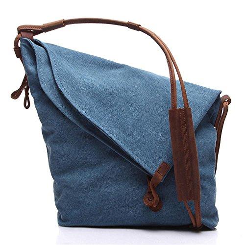 style Classy Shouder for Canvas Hobo Simple Casual Bag Blue Bags Body men Grey New Fashion Bags traveler and Handbag Bags WalkingToSky students Crossbody Messenger Cross Unisex women YqIzPz