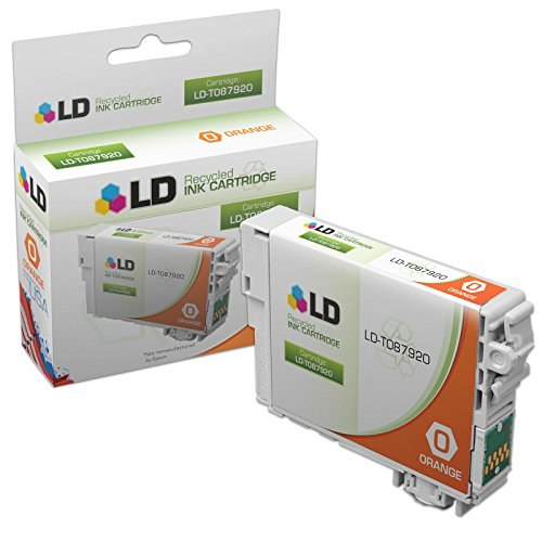 LD © Remanufactured Replacement for Epson T087920 (T0879) Orange Inkjet Cartridge for use in Epson Stylus Photo R1900 Printers