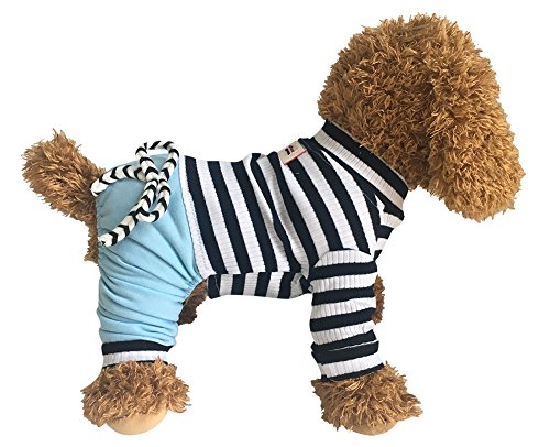 EastCities Dog Clothes for Small Dogs Pajamas Puppy Outfit,Blue L by EastCities