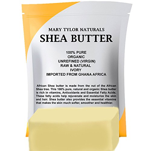 Organic Shea Butter 1 lb, Premium Grade Raw Shea Butter, Unrefined, Ivory From Ghana Africa, Amazing Skin Nourishment, Great for Eczema & Stretch Marks, Body Butters By Mary Tylor Naturals