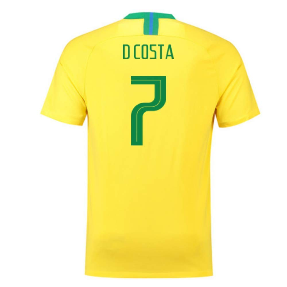 2018-2019 Brazil Home Nike Football Soccer T-Shirt Trikot (Douglas Costa 7)