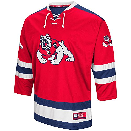 (Colosseum Mens Fresno State Bulldogs Hockey Sweater Jersey - L)