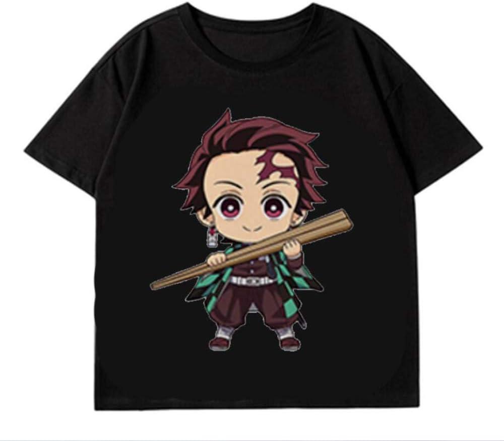 QCYISI Kimetsu No Yaiba T-Shirts Unisex mit kurzen /Ärmeln Pullover T 3D-Druck-Sweatshirt Tops