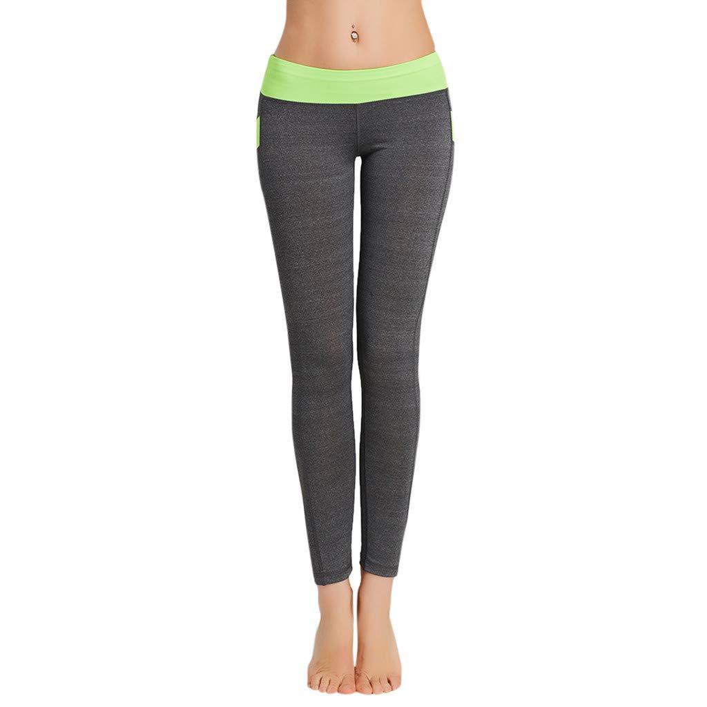 Kiminana Tight-Fitting Professional Sports Running Yoga Pants Unisex Green