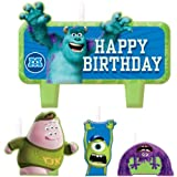 """Party Time Disney Monsters University Molded Mini Character Birthday Candle Set, Pack of 4, Green , 1.25"""" Wax"""