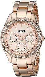 XOXO Women's XO5502 Rhinestone Accented Rose Gold-Tone Bracelet Watch