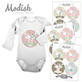 Best Babies For Girl Gifts - 12 Monthly Baby Stickers, Floral Deer, Flower Antlers Review