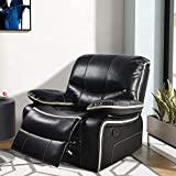 LCH Single Recliner Sofa Chair – Support Back and Waist Design of Oversized Reclining Couch Seat Body Relaxing