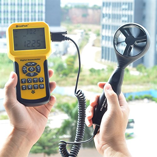 This Wind Speed Tester Measures Wind Speed Temperature 30/% OFF HOLDPEAK 846A Digital Anemometer Wind flow with Backlight /& Data Hold Wind Speed Meter For Windsurfing Kite Flying Sailing Surfing Fishing
