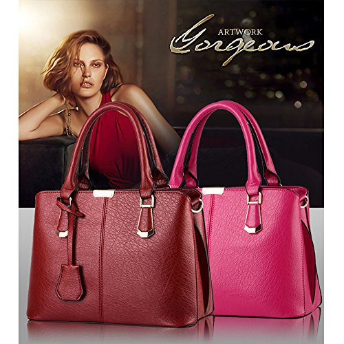 red Wine G Fashion New Handle 2018 Handbag Look AVERIL Colour Leather Women Shoulder 10 Top C4q6HFwxCr