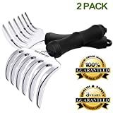 SELEWARE [ 2-Pieces] Innovative Meat Claws, BBQ Meat Forks, Pulled Pork Shredder Claws for Lift, Handle, Shred, and Cut Meats, Ultra-Sharp Blades BPA Free Barbecue Paws with Handle