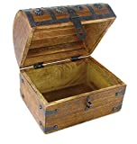 Blackbeard Wooden Pirate Treasure Chest Box With Antique Style Lock And Skeleton Key by WellPackBox