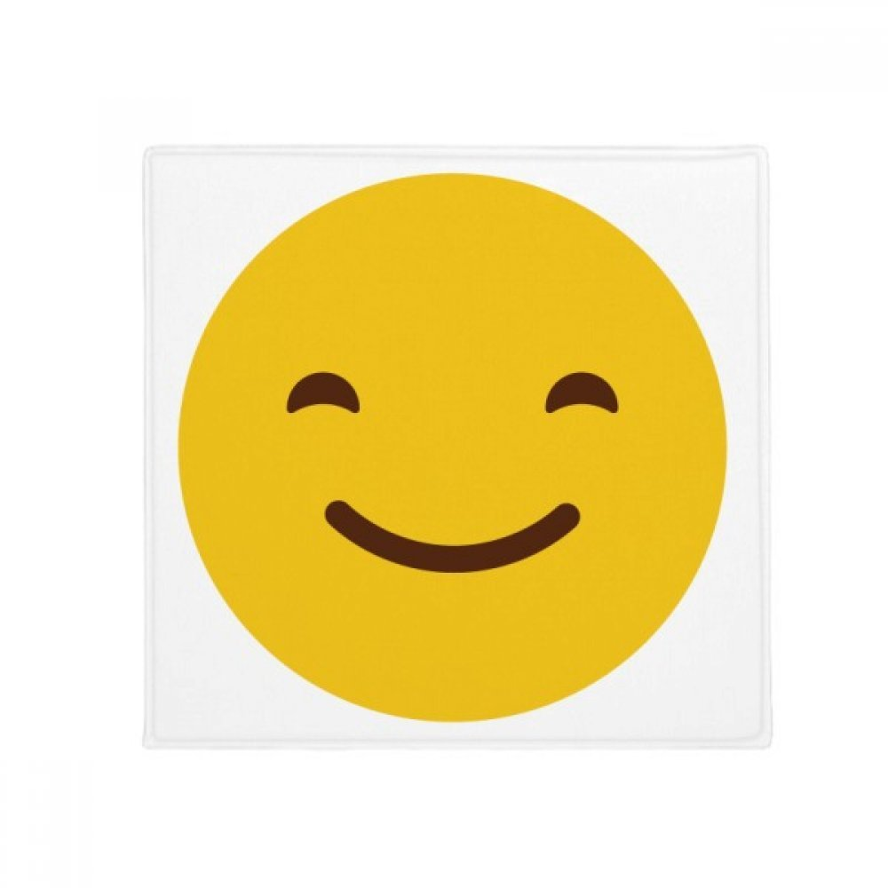 DIYthinker Smile Yellow Cute Online Chat Emoji Anti-Slip Floor Pet Mat Square Home Kitchen Door 80Cm Gift