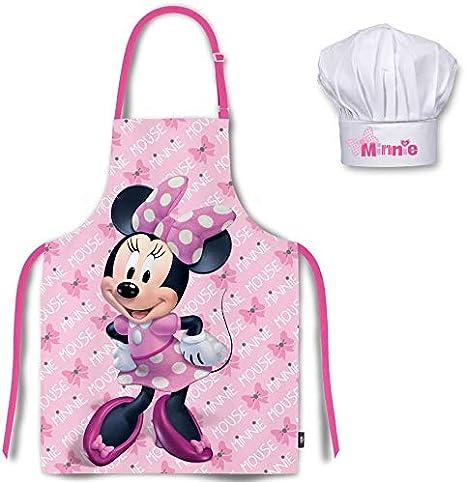 Mgs33 Tablier Enfant Rose Chapeau De Chef Minnie Minnie Pour
