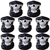 Airzir 8 Pcs Breathable Seamless Tube Skull Face Mask, Dust-proof Windproof Motorcycle Bicycle Bike Face Mask for Cycling, Hiking, Camping, Climbing, Fishing, Hunting, Motorcycling (8-Pcs)