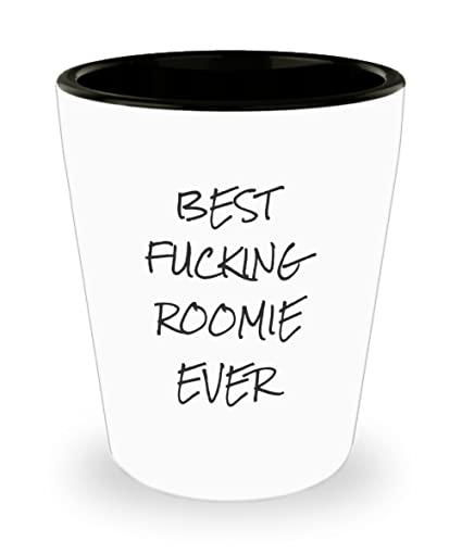 Amazon.com | Roommate Shot Glasses - Best Effing Roomie Ever - Funny ...