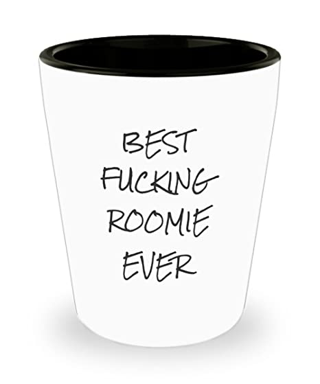 Christmas Gifts For Roommates.Amazon Com Roommate Shot Glasses Best Effing Roomie Ever