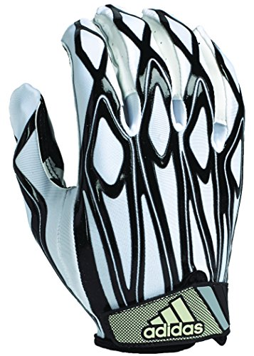 adidas Youth Filthy Quick Football Gloves, White/Black, X-Large