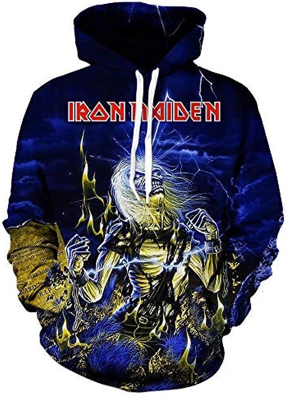 Iron Maiden Pulower Neutral Style wiosna i jesień męski sweter z okrągłym wycięciem pod szyją i długim rękawem bielizna koszuli uniseks: Odzież