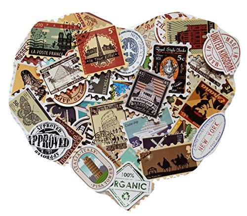 IDULL 50 PCS Travel Stickers for Scrapbooking, Card Making, Journal, Various Planner, Laptop, Luggage