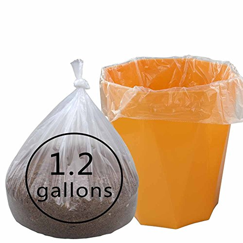 Cand Extra Heavy Duty Clear 1.2 Gallon Trash Bags, 90 Counts