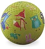 "Crocodile Creek Woodland Animals Playground Ball, Lime Green, 5"""