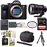 Sony Alpha a7RIII DSLR Camera w/ FE PZ 28-135mm f/4 Lens & 128GB SD Card Bundle