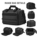 Tactical Gun Shooting Range Bag, Deluxe Pistol