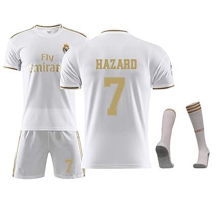 DUBAOBAO Camiseta de fútbol para niños/Adultos/Juveniles, No. 7, No.10, No.10, Calcetines, 100% poliéster, cómodo, Ligero, ...