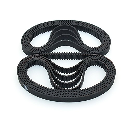 BIQU 3D Printer Timing Belt 200-2GT-6 Closed Loop Rubber Belt 200mm Width 6mm (Pack of 10pcs)