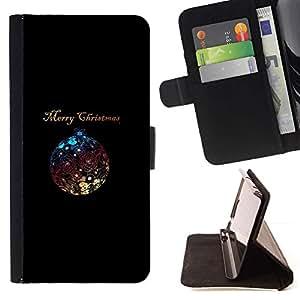 Navidad minimalista Bola Brillante- Modelo colorido cuero de la carpeta del tirón del caso cubierta piel Holster Funda protecció Para Apple iPhone 5C