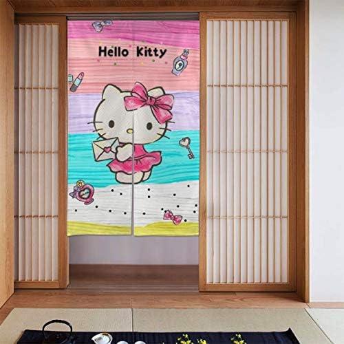 ハローキティ 網戸 玄関 86 X 143cm 玄関カーテン 取付簡単 ドア/ベランダ/玄関/勝手口