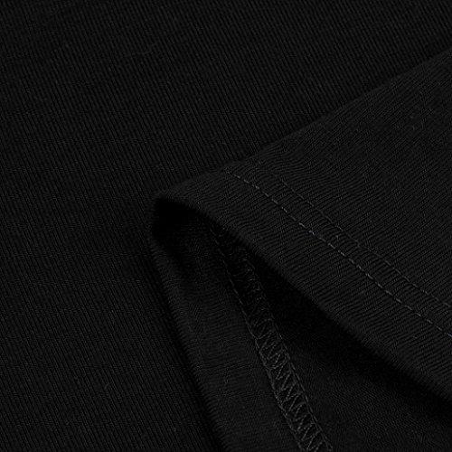 Sans vous bretelles Tops taille Wolfleague longue Femmes shirt Chemisier Dcontracte Dentelle Noir T Manche Grande 44~56 Arrtez qwH40Ffn