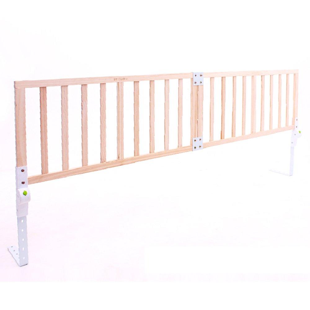 YNN ベッドガードレールソリッドウッドの赤ちゃんの脱落防止ベッドフェンス1.8-2メートルベッドバフル子供折り畳み式マルチシフトスマートボタン折りたたみ (サイズ さいず : 180cm bed(90+90cm)) 180cm bed(90+90cm)  B07DZ73LRX